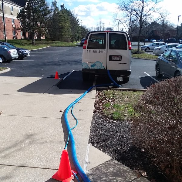 Carpet Cleaning Truck.